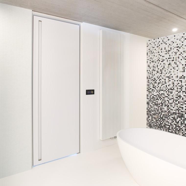 Puertas blancas para interiores modernos - usos en interiores -