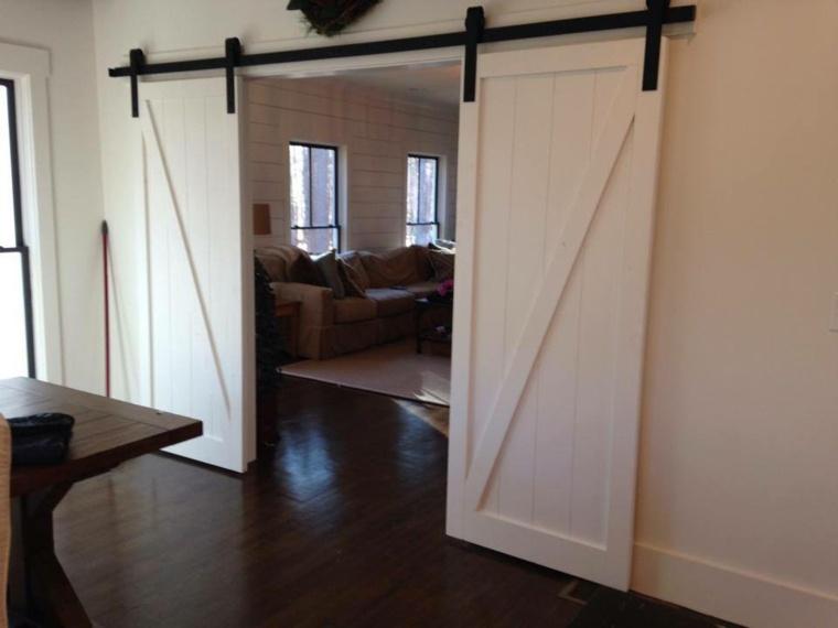 Puertas blancas para interiores modernos usos en - Puertas correderas interior ...