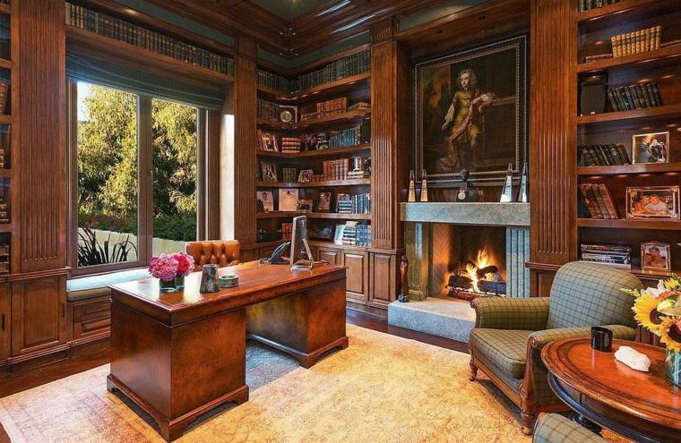 Chimeneas interiores inspiradores con chimeneas que amar s for Despachos lujosos