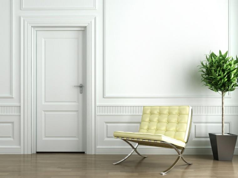 Puertas blancas para interiores modernos usos en - Puertas blancas interior ...
