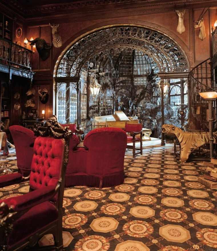interiores estilo steampunk