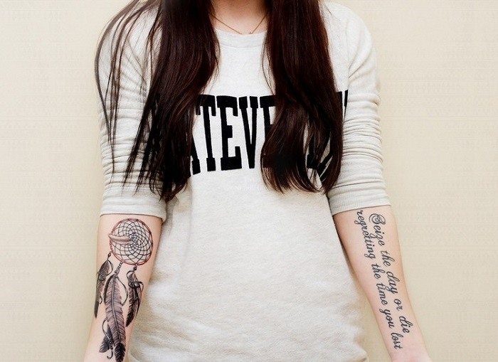 seleccion simbolos tatuados antebrazo
