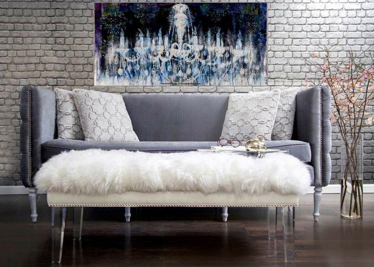 sofas-modernos-terciopelo-color-gris-claro