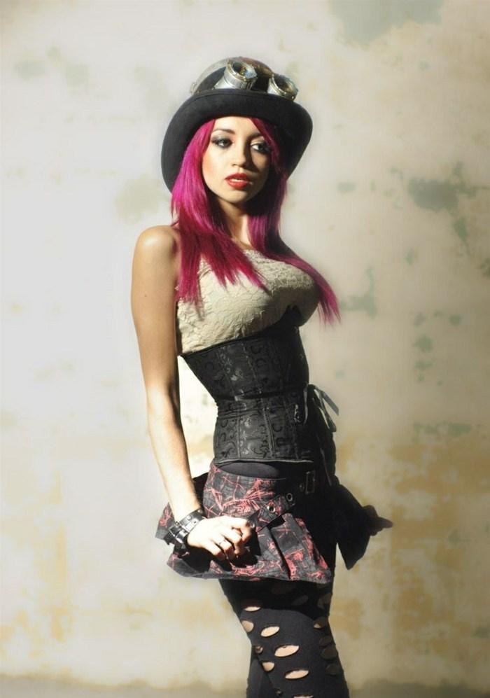 steampunk ropa de moda-impresionante-chica-traje