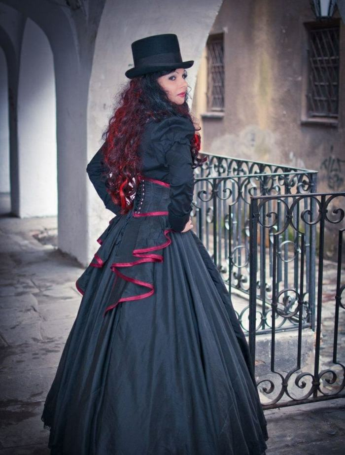 steampunk ropa de moda-impresionante-combinacion-gotico