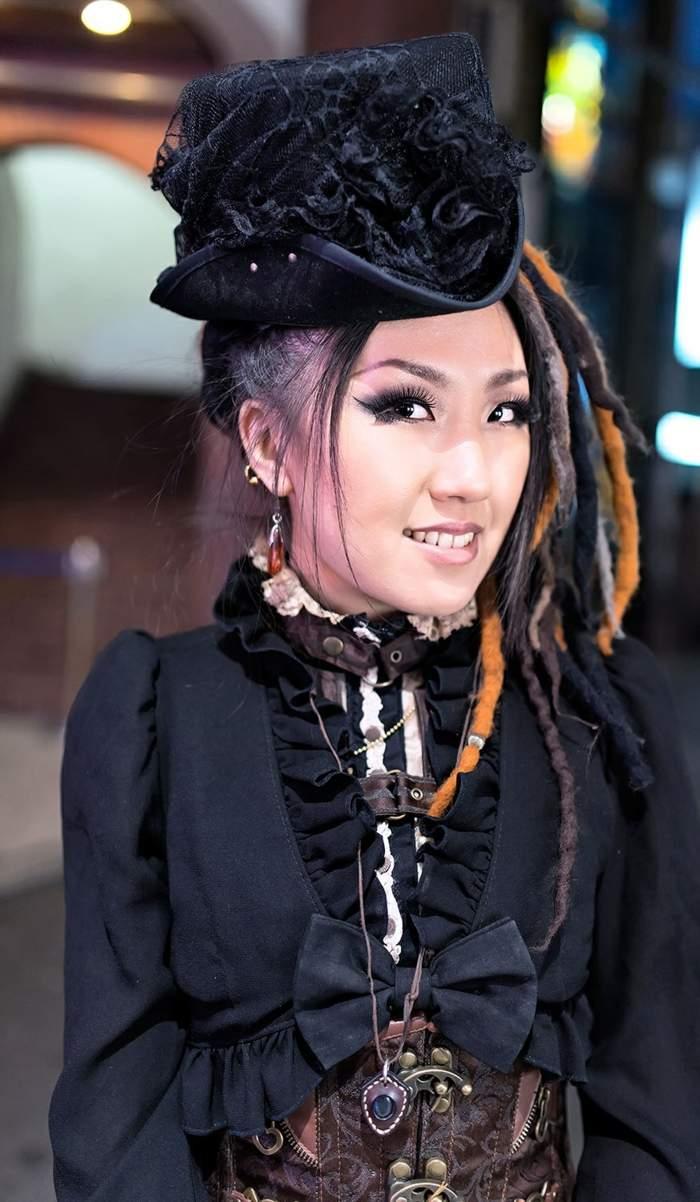 steampunk-ropa-de-moda-impresionante-gorra-ropa-negra