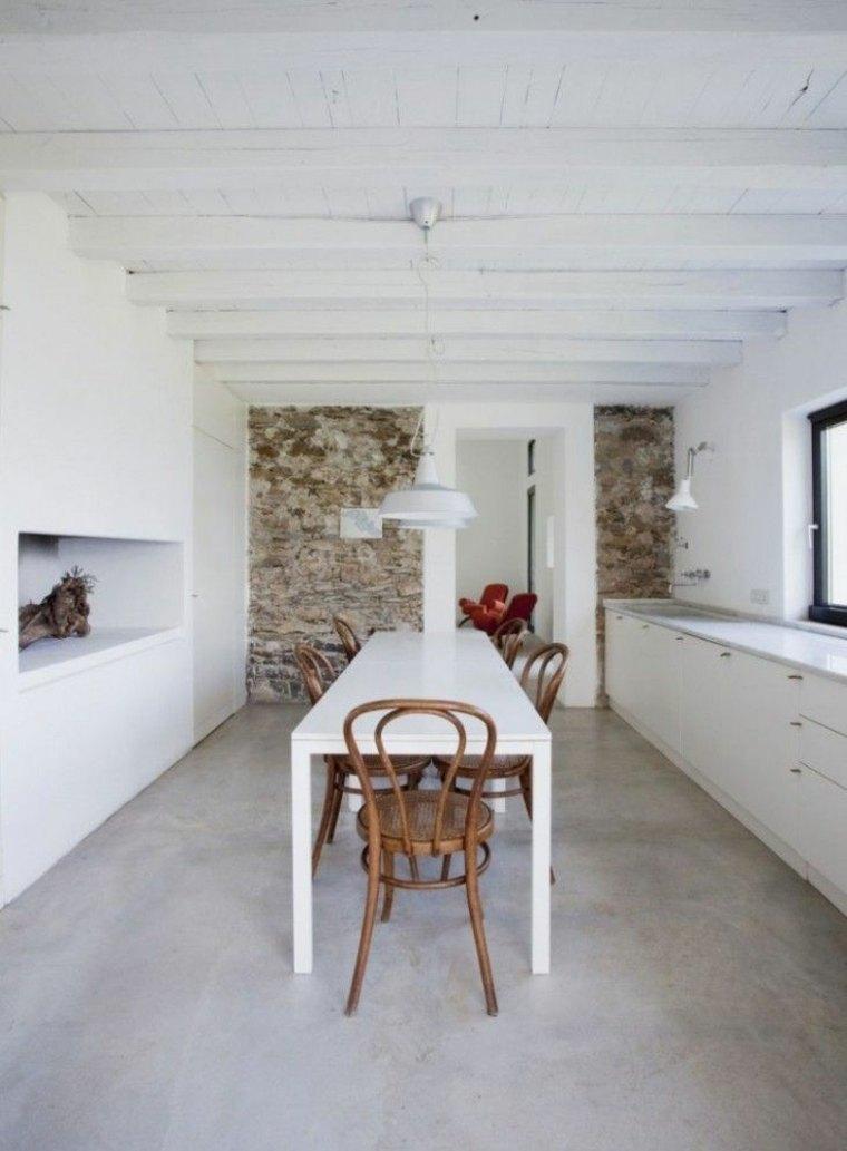 diseños de interiores con suelos de hormigón pulido