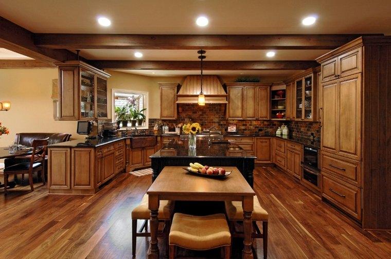 bonitas cocinas de madera