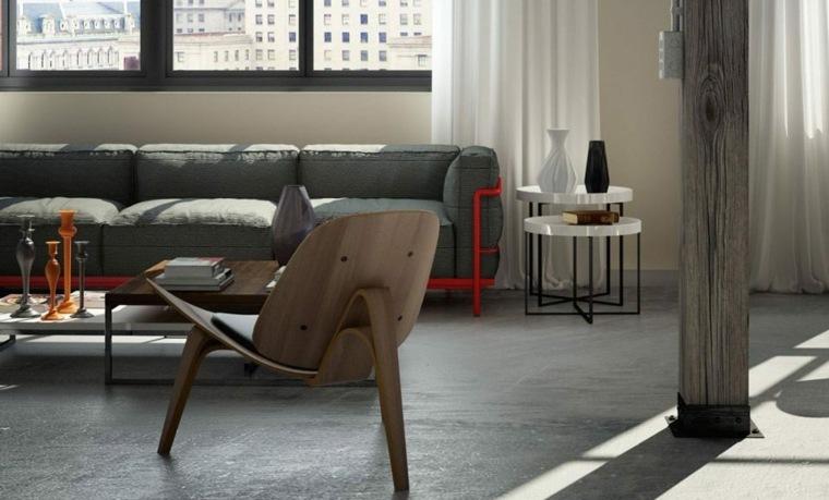 interiores con suelos de hormigón