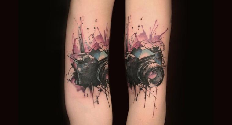 tatuaje-camera-fotos-diseno-3d