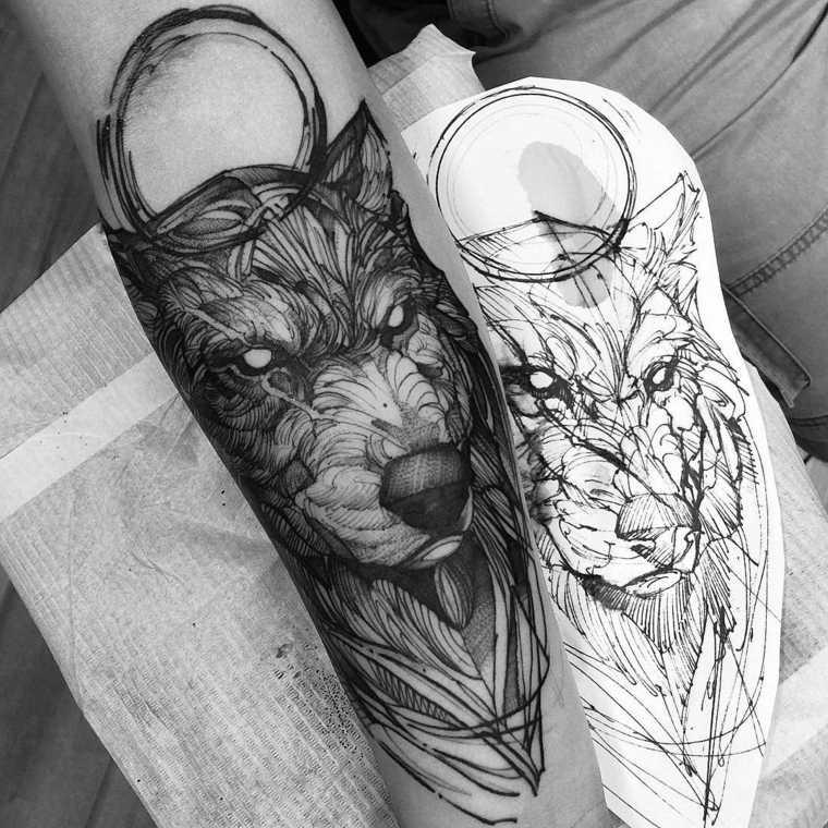 tatuaje-lobo-detallado-opciones-diseno