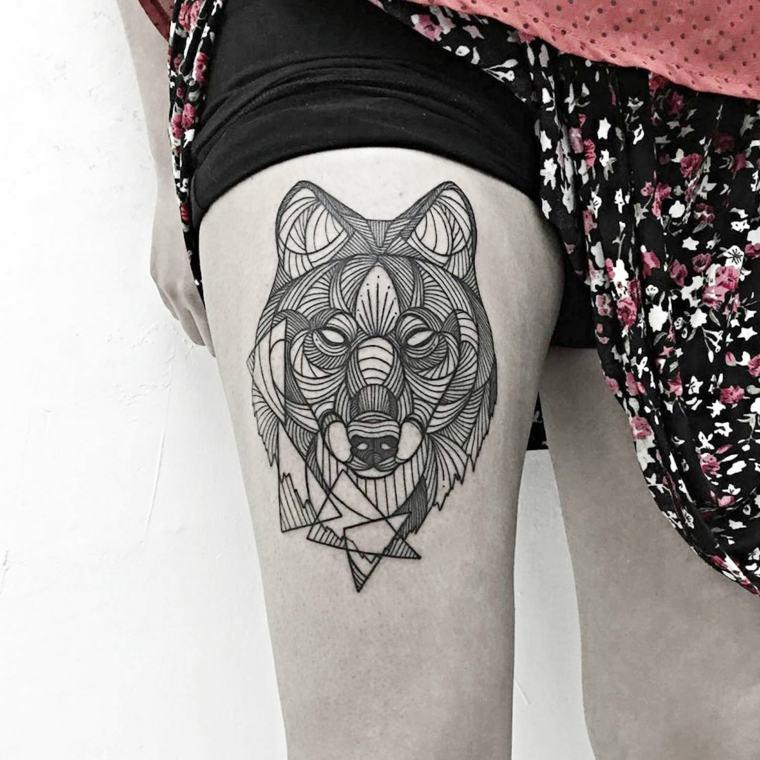 tatuaje-lobo-pierna-opciones