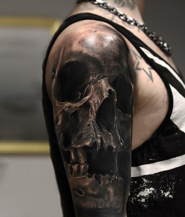tatuajes-3d-opciones-craneo-diseno-realista