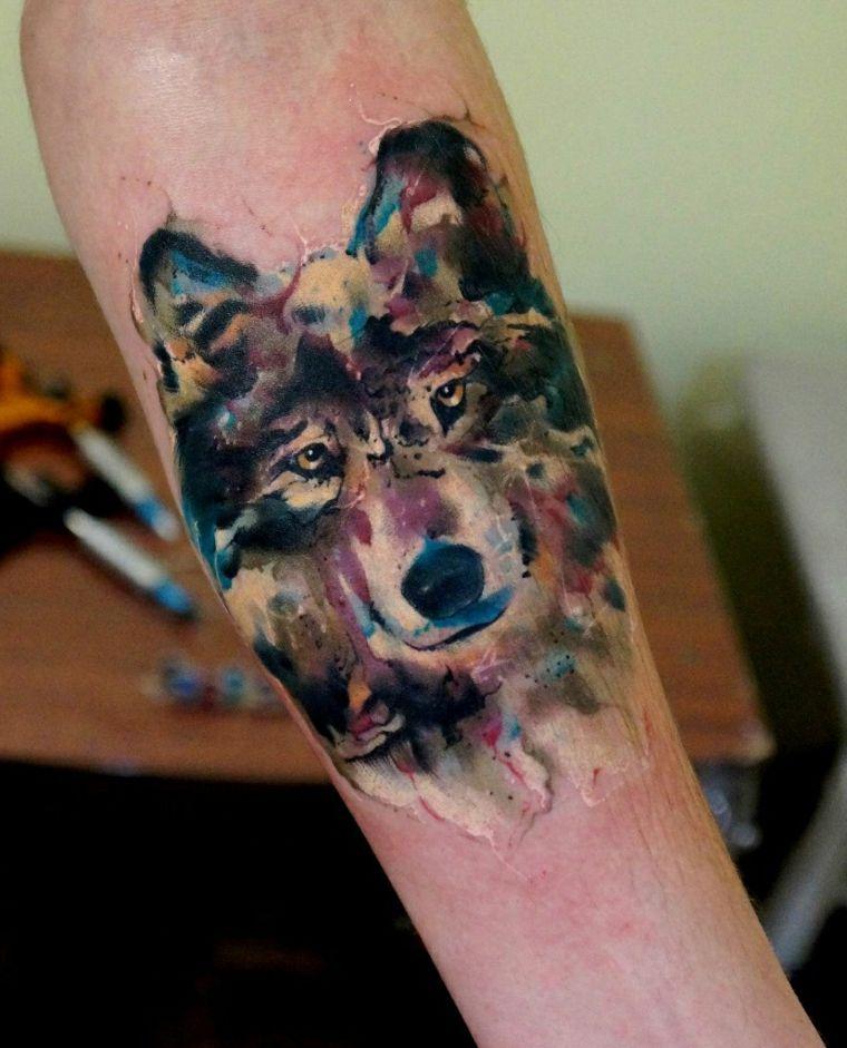 tatuajes-de-lobos-acuarela-disenos-espectaculares