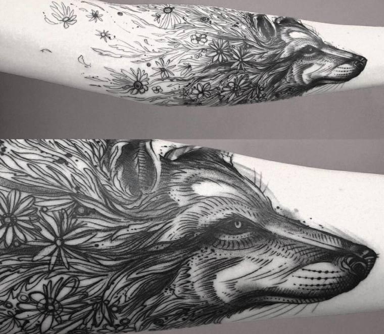tatuajes-de-lobos-antebrazo-cabeza-diseno