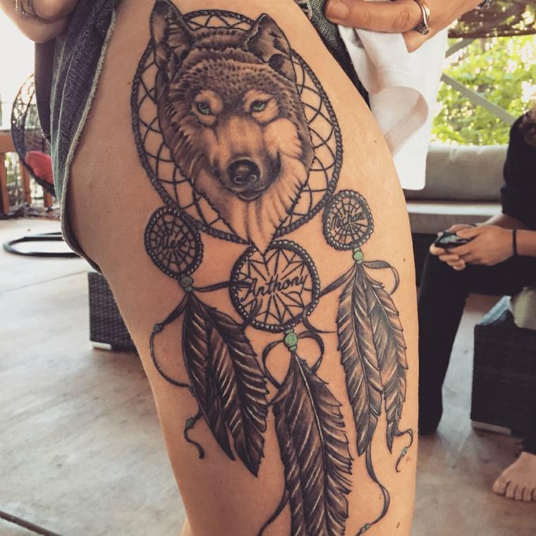 tatuajes-de-lobos-atrapador-suenos-disenos