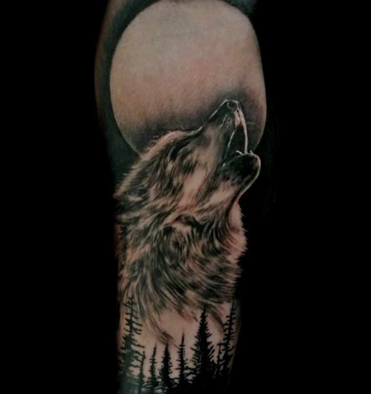 tatuajes-de-lobos-bosque-diseno-original