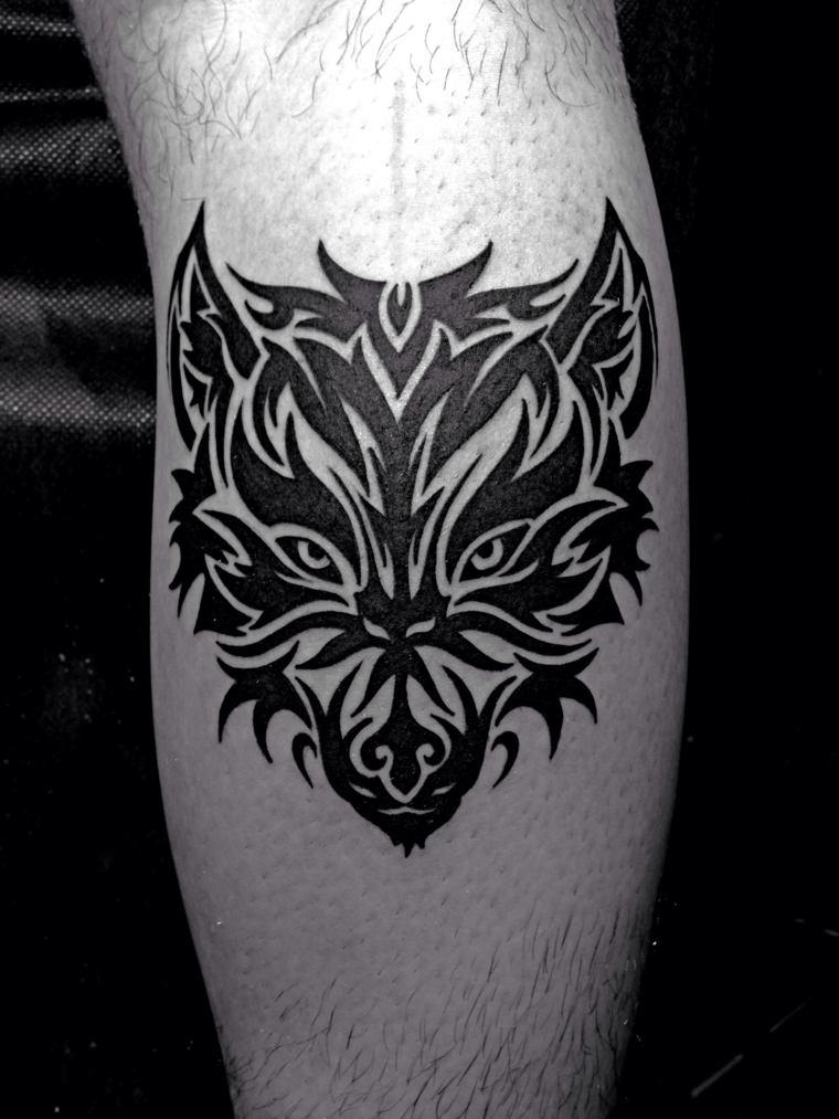 tatuajes-de-lobos-diseno-estilo-tribal-moderno
