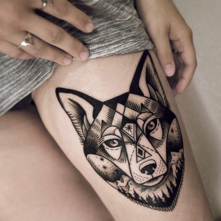 tatuajes-de-lobos-diseno-estilo-tribal
