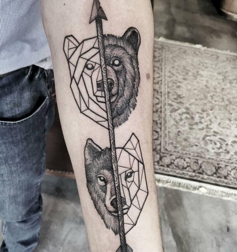 tatuajes-de-lobos-oso-disenos-modernos