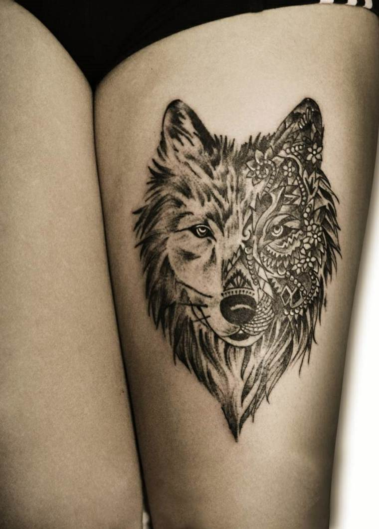 tatuajes-de-lobos-pierna-bello