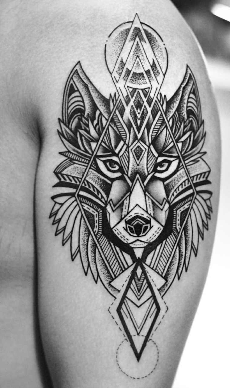 tatuajes de lobos 75 ideas y dise os de los mejores. Black Bedroom Furniture Sets. Home Design Ideas
