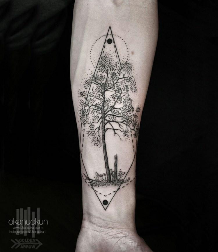 tatuajes diseño naturales arboles