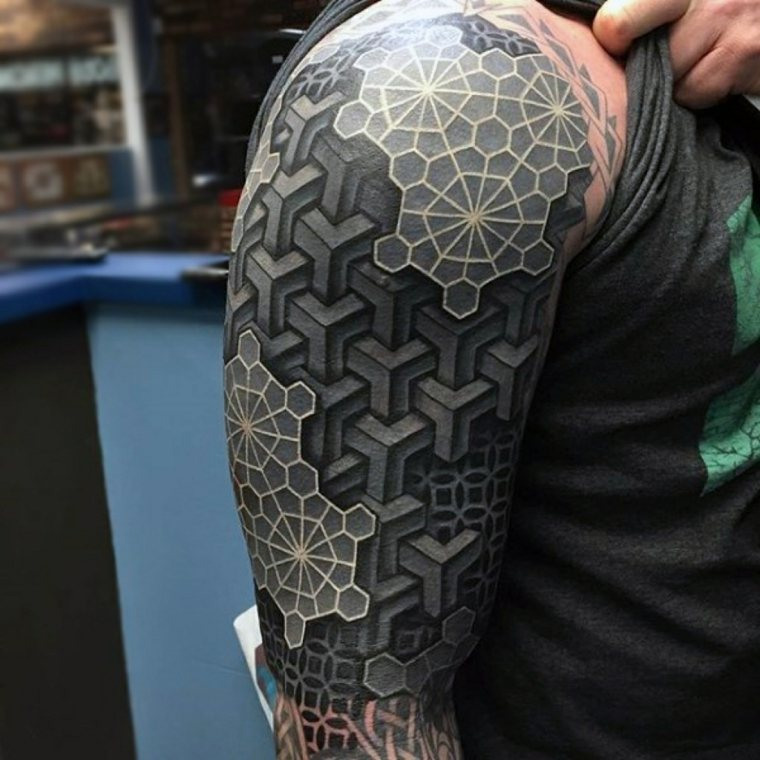 tatuajes en 3D-diseno-abstractos-geometricos-estilos