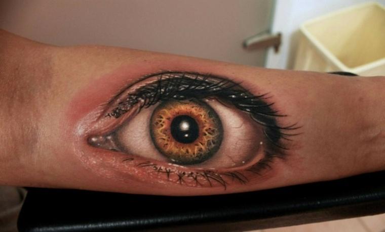 tatuajes en 3D-diseno-ojo-estilo-moderno