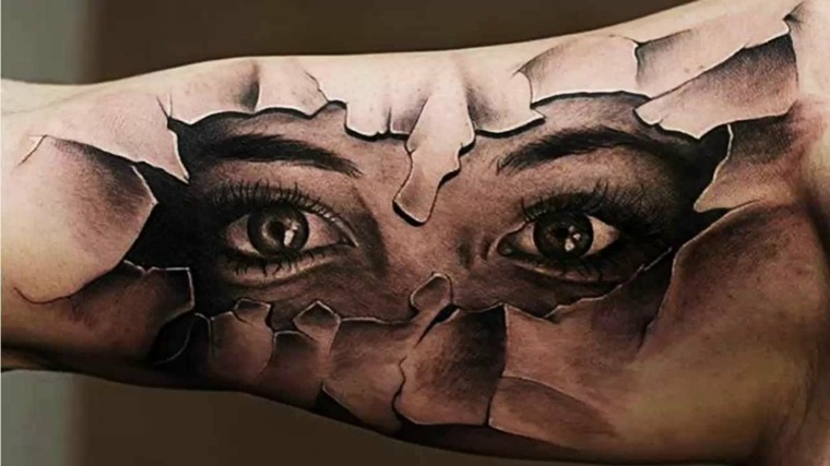 tatuajes-en-3D-ojos-modernos-estilos