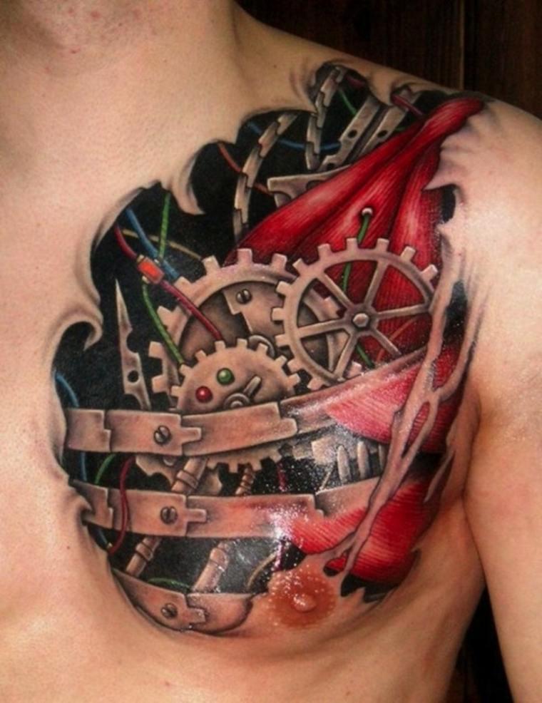 tatuajes-en-3D-pecho-estilo-moderno
