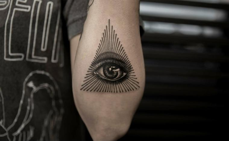 tatuajes en el antebrazo diseno-moderno-ojo-iluminados
