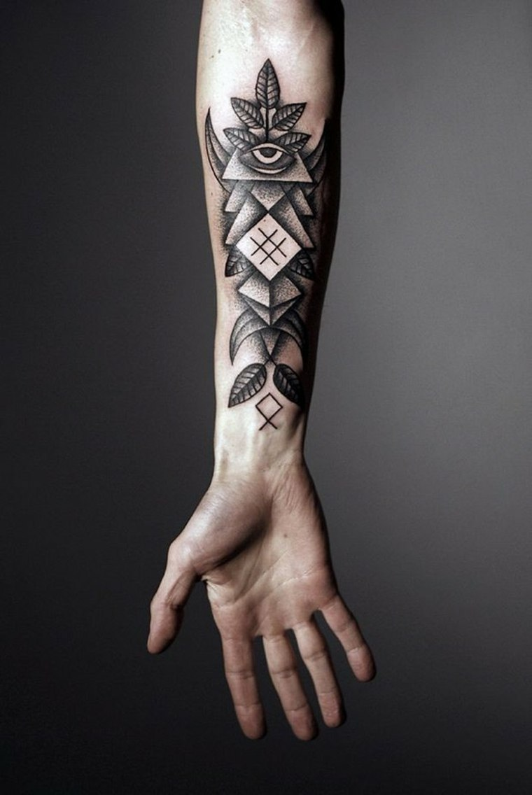tatuajes-en-el-antebrazo-diseno-opciones-diseno-geometrico-original