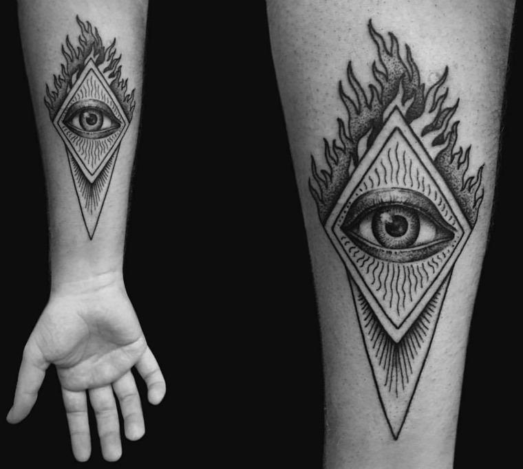 tatuajes-en-el-antebrazo-moderno-ojo-estilo