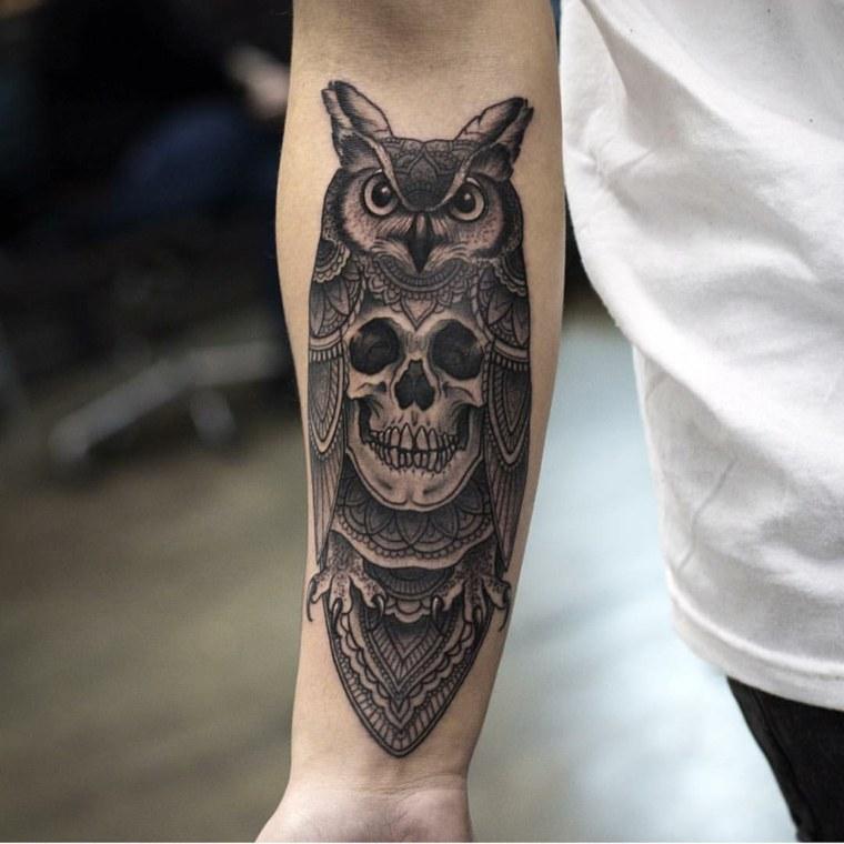 tatuajes-en-el-antebrazo-tigre-opciones-buho