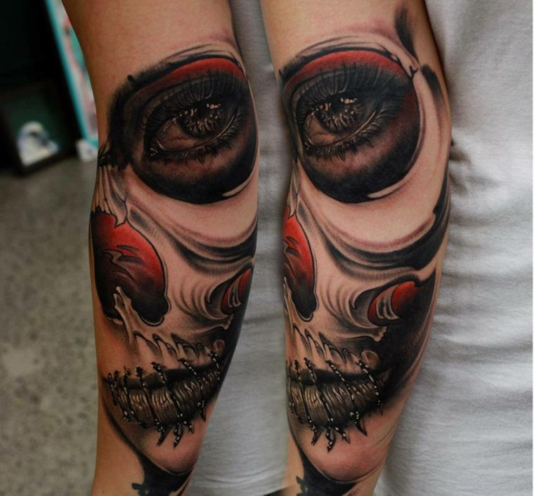 tatuajes-en-el-antebrazo-unicos-diseno-calavera
