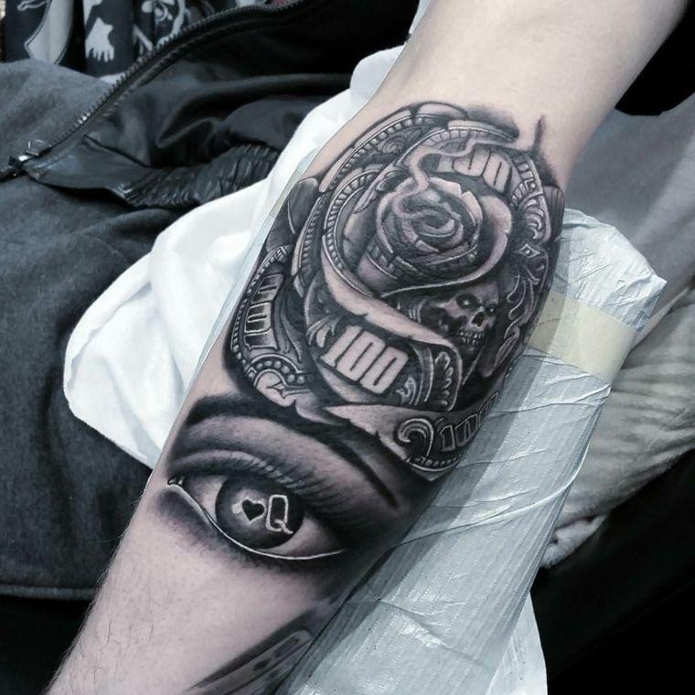 tatuajes-en-el-antebrazo-unicos-ojo-rosa