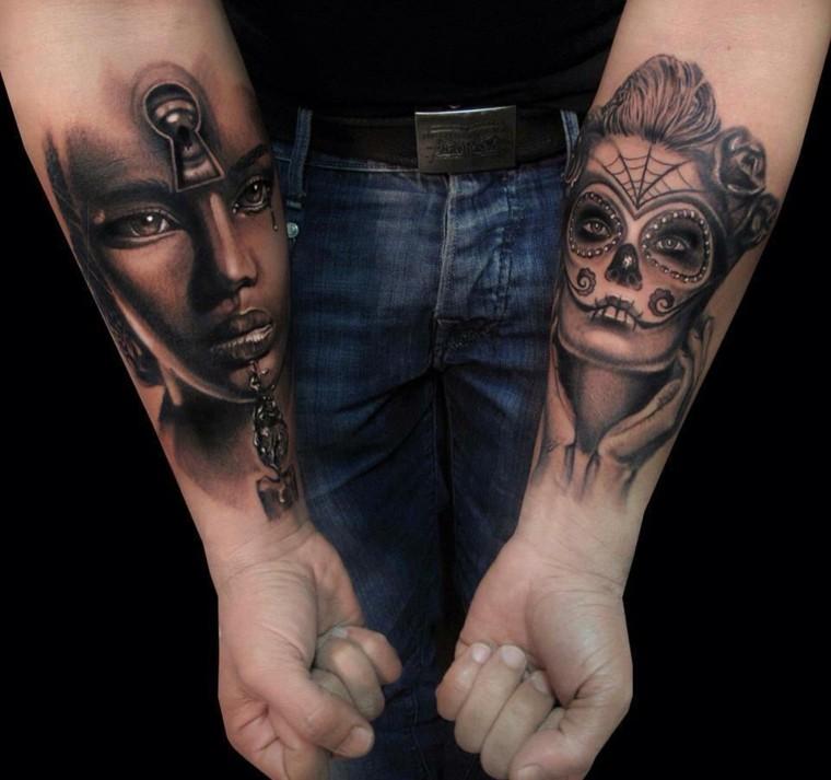 tatuajes-en-el-antebrazo-unicos-rostros-mujer