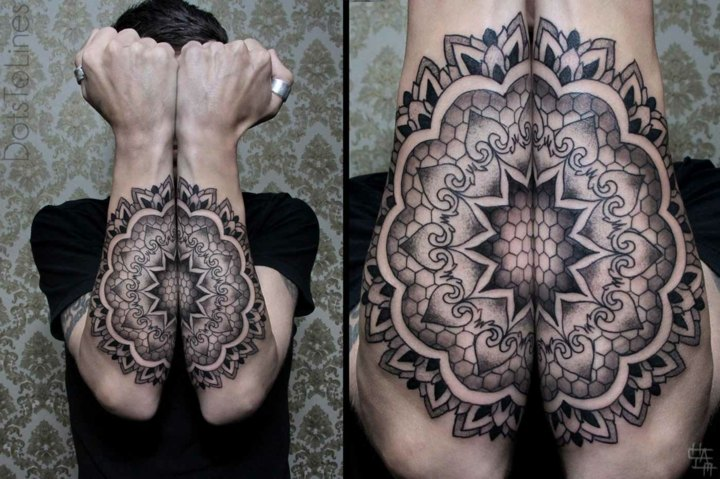 tatuajes originales ideas geometria antebrazos