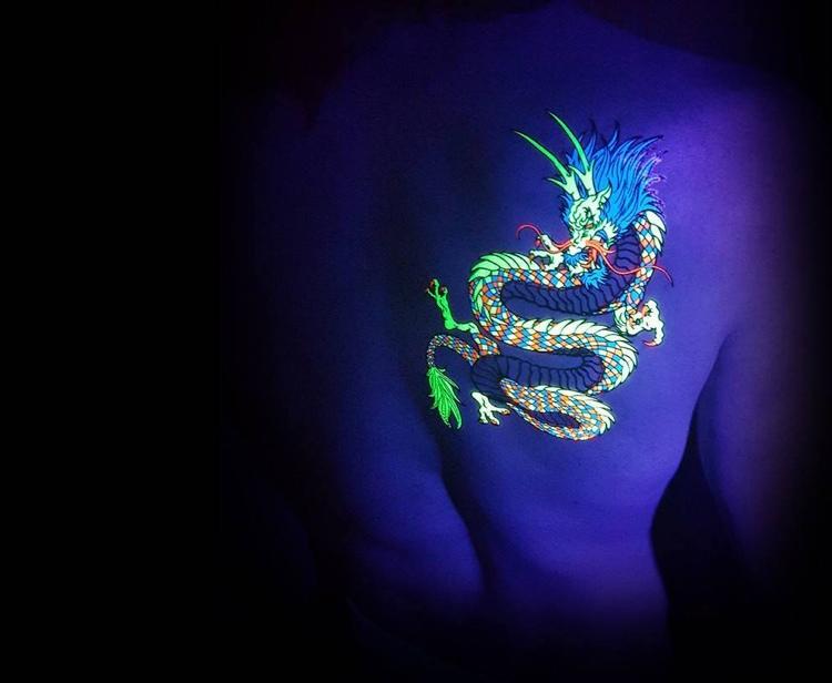 tatuajes originales ideas luminicas dragon