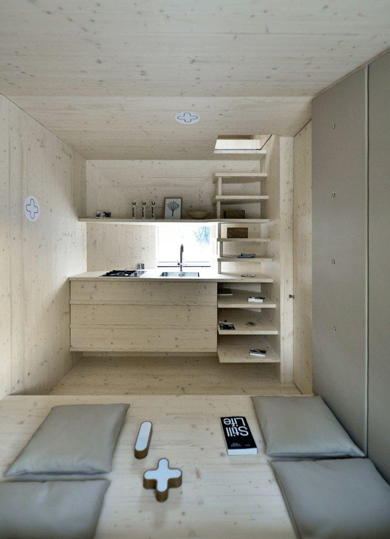 vista cocina escaleras niveles