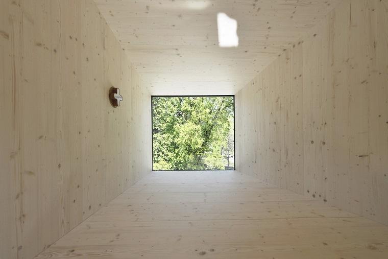 vista hacia exterior vivienda moderna