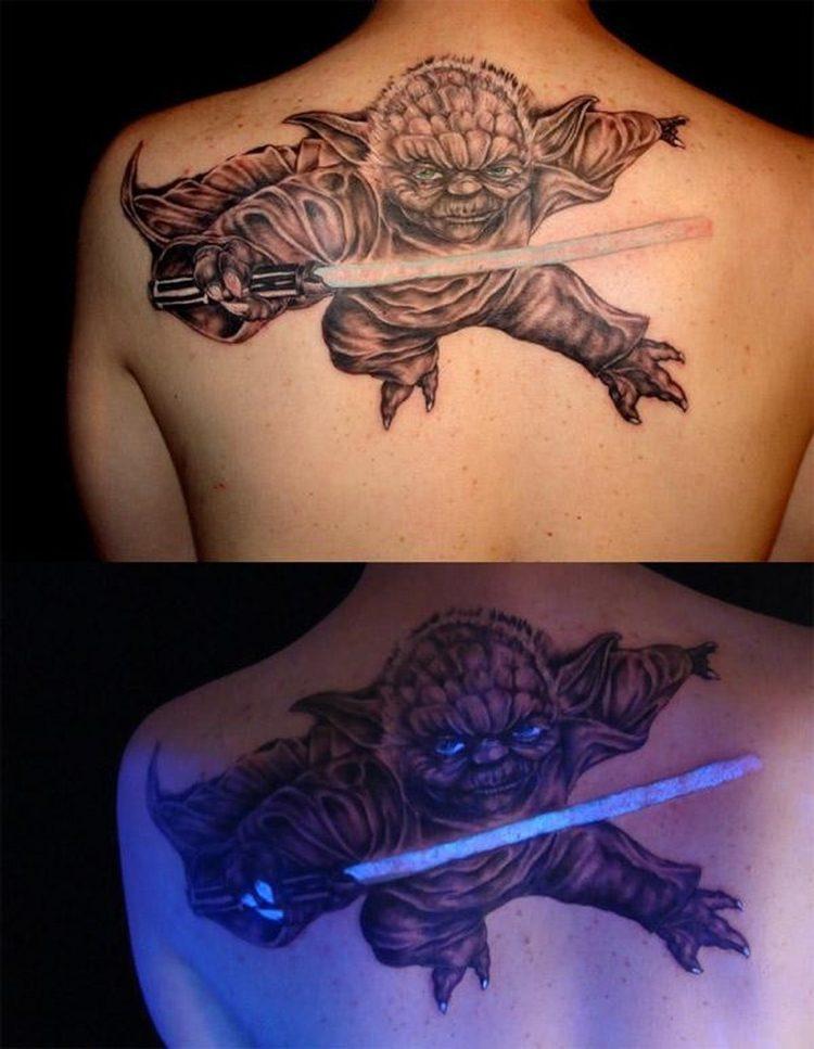 yoda star wars tatuaje espalda