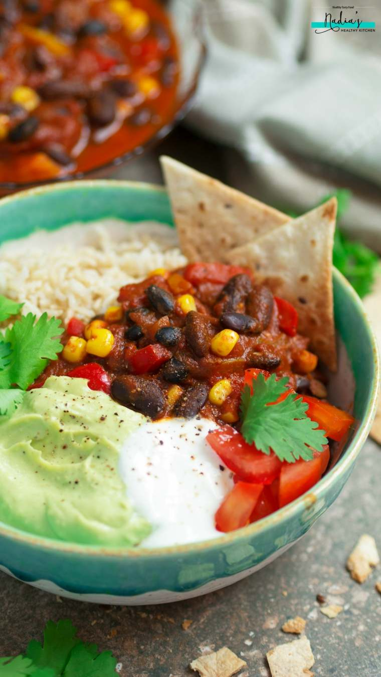 receta vegana de chili con carne