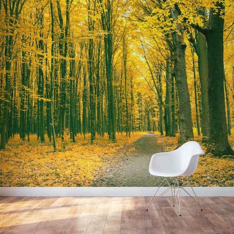 papel pintado con paisajes otoñales