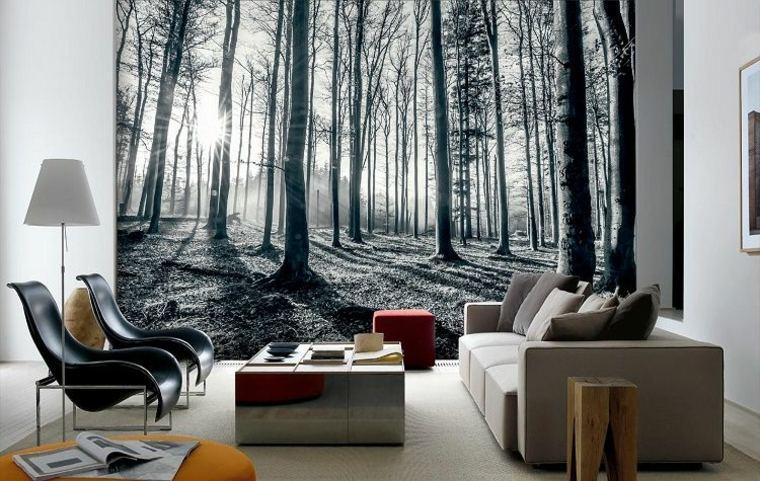 diseños de papel pintado para ampliar espacios