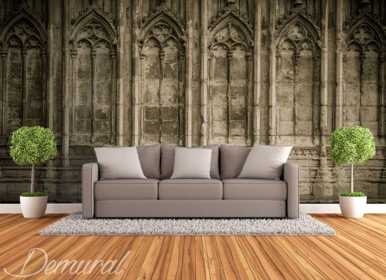 papel para paredes con foto de catedral