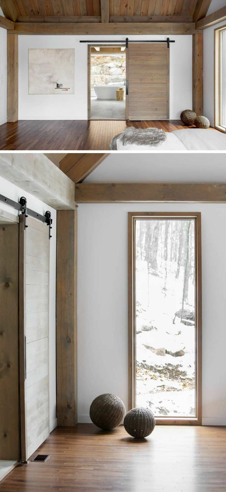 agradables acentos madera clara