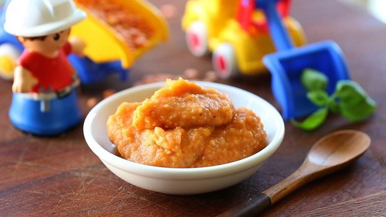 alimentación complementaria-bebes-comidas-pure-lentejas