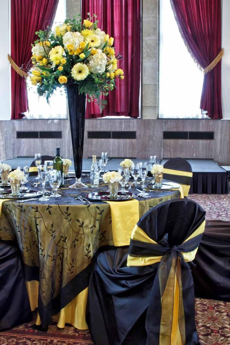 amarillo-negro-decorar-boda-opciones-originales